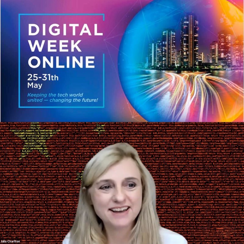 Julia Charlton at the Digital Week Online
