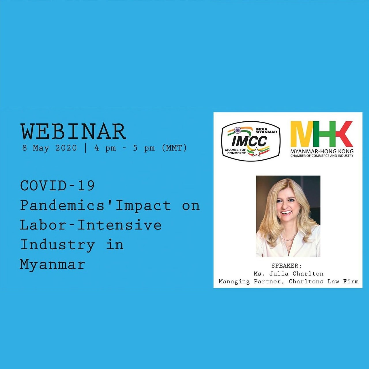 Webinar: COVID-19 Pandemics' Impact on Labour-Intensive Industry in Myanmar