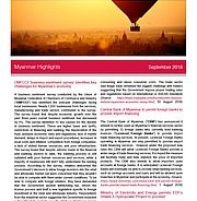 UMFCCI 'business sentiment survey' identifies key challenges for Myanmar's businesses