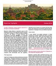 Growth in Myanmar mining industry expected on the back of increased investment